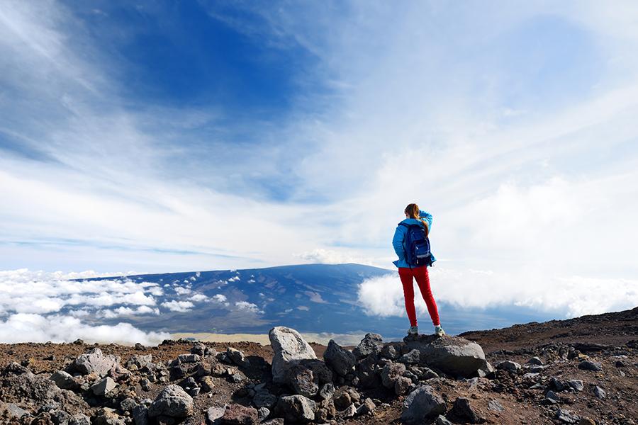 Admiring Mauna Loa from afar